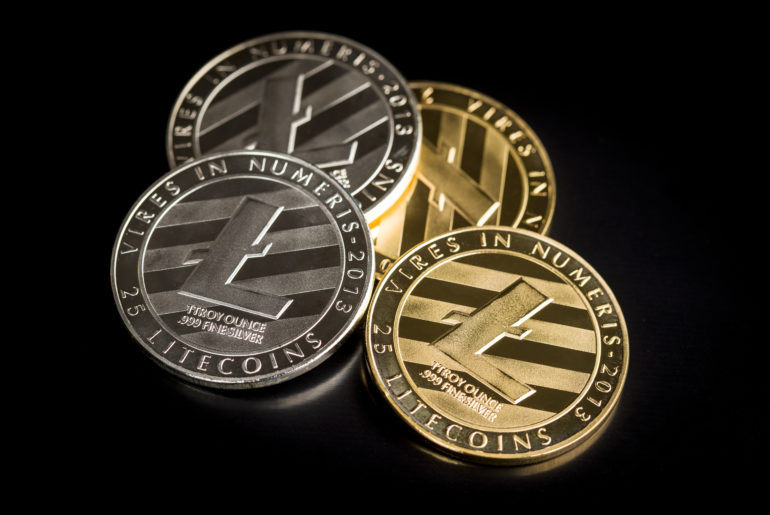 litecoin-digital-coins-on-black-background-blocknews