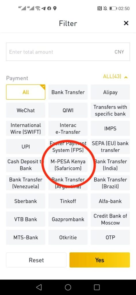 binance-adds-mpesa-payments